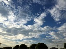 embeleze a nuvem e o céu Imagem de Stock