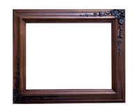 Embelished wooden picture frame Stock Photo