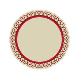 Embellished emblem icon image Stock Photography