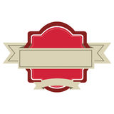 Embellished emblem icon image Royalty Free Stock Photo