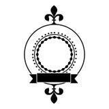 Embellished emblem or label icon image Stock Images