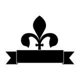 Embellished emblem or label icon image Royalty Free Stock Photography