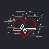 Embellished heart cardiogram image Royalty Free Stock Photography