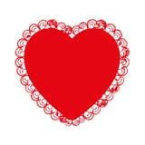 Embellished heart cartoon icon image Stock Photos