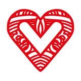 Embellished heart cartoon icon image Royalty Free Stock Photo