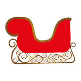 Embellished sleigh icon image Royalty Free Stock Photos