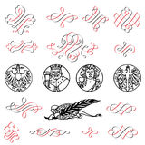 Embellishment. Lots of decorative and embellished signs and symbols Stock Photography