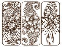 Embellissement indien décoratif ornemental de mhendi d'arabesque de Paisley de modèle de conception de griffonnage de fleur de me illustration libre de droits