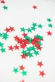 Embellissements colorés vibrants d'étoile Photo stock