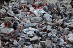 Ember. Glowing coals on a brazier Stock Photography