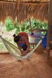 Embera村庄,Chagres,巴拿马 免版税库存照片
