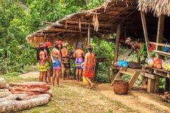 Embera-Dorf, Chagres, Panama lizenzfreies stockfoto