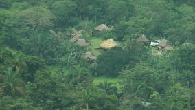 Embera Indian Traditional Village. stock video footage