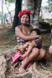 Embera-Stamm lizenzfreie stockfotos
