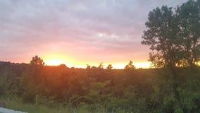 Embered wieczór Zaświecający niebo Fotografia Stock