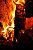 Embers лагерного костера Стоковая Фотография