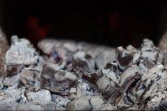 Embers, ash and coal Stock Image