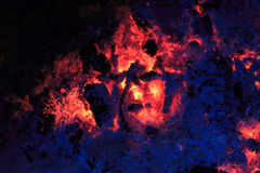 Embers and ash Stock Photo