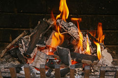 Embers for the barbecue Royalty Free Stock Image