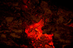 Embers burning Royalty Free Stock Photography