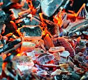 Embers of charcoal Royalty Free Stock Image