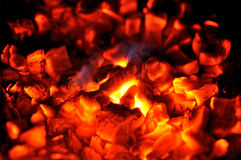 Embers close-up Royalty Free Stock Image