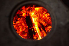 Embers closeup Royalty Free Stock Images
