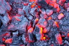 Embers do incêndio Imagens de Stock Royalty Free