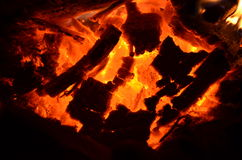 Embers. The dying fire. embers.fire Stock Image
