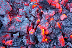 Embers of fire Royalty Free Stock Images