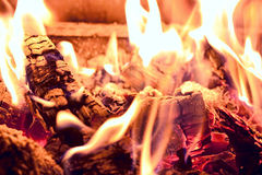 Embers in fire Royalty Free Stock Photos