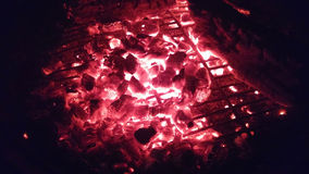 Embers of a Fire Stock Image