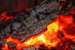 Embers fireplace Royalty Free Stock Photos