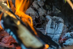 Embers and flames Stock Photos