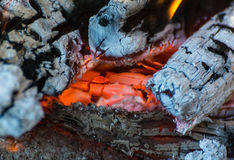 Embers and flames Royalty Free Stock Photo