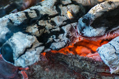 Embers and flames Royalty Free Stock Photography