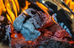 Embers and flames Stock Photography