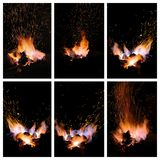 Embers and Flames of a smith's forge Stock Image