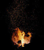 Embers and Flames of a smith's forge Stock Photography