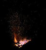 Embers and Flames of a smith's forge Royalty Free Stock Photo
