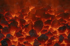 Embers in forge Stock Image