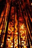 Embers, Glow, Wood, Burn Royalty Free Stock Photography