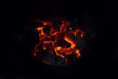 Embers glowing dark Stock Photos