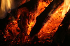 Embers glowing Royalty Free Stock Image