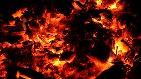 Embers i popióły duży ogień zdjęcie wideo
