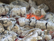 Embers, live coal Royalty Free Stock Photo