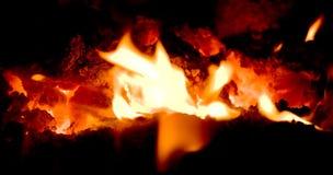 embers płomieni wulkan Zdjęcia Stock