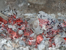 Embers in stove Stock Photos