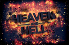 Embers surrounding the word heaven and health Stock Photography