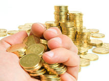 Embezzlement of public funds misappropriation. Stock Photos